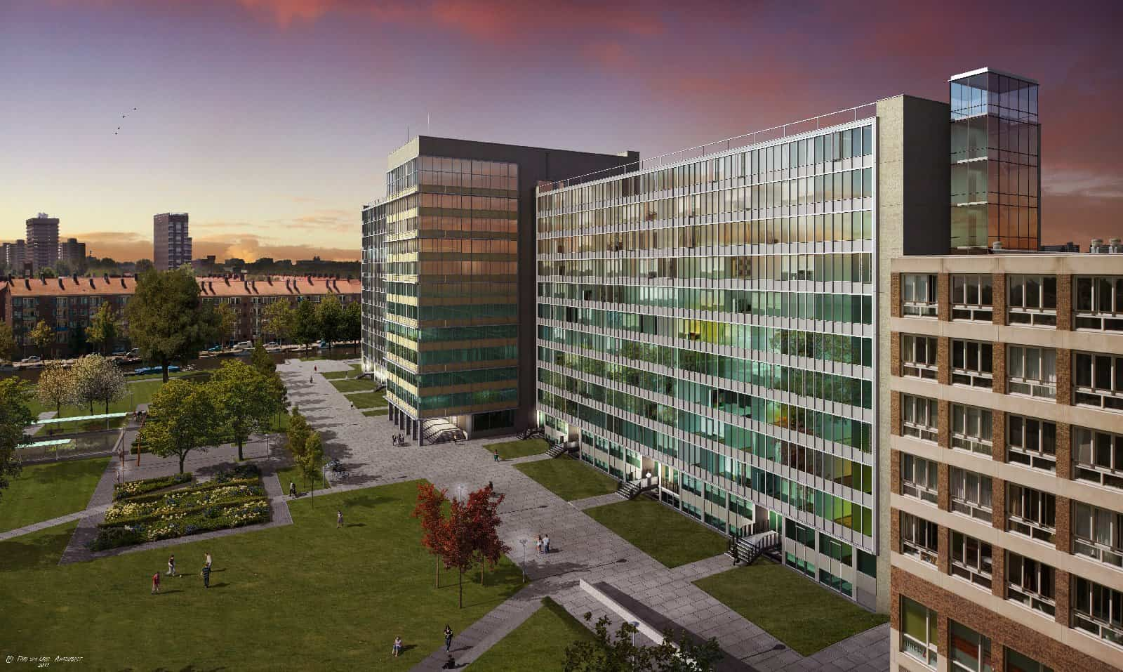 Ombouw GAK kantoorgebouw tot 331 studentenkamers