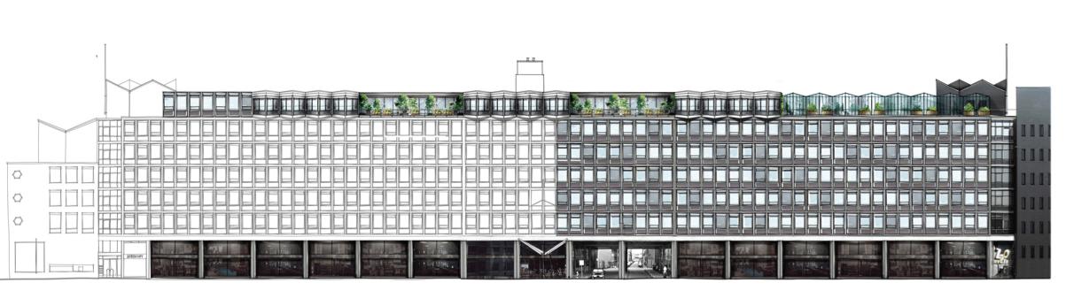 Metropoolgebouw ombouw naar Zoku hotel