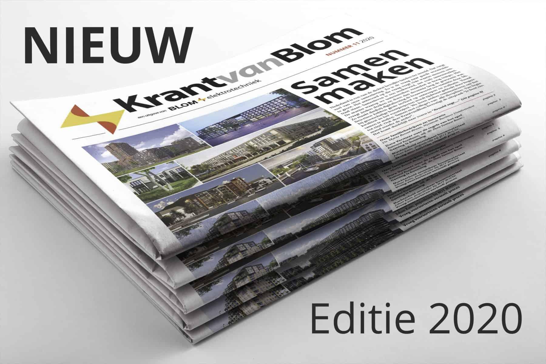 Krant van Blom 2020